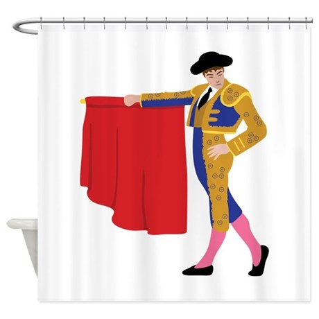Matador Spanish Bull Fighting Shower Curtain By Hopscotch12