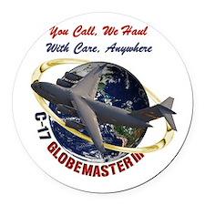 C-17 You Call, we Haul Round Car Magnet