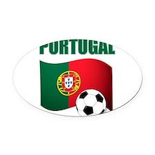 Portugal futebol soccer Oval Car Magnet