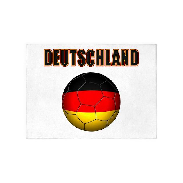 Deutschland Fussball 5'x7'Area Rug by soccerade