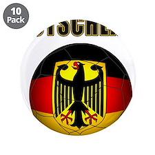 """Deutschland Fussball 3.5"""" Button (10 pack)"""