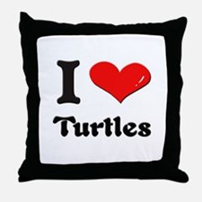 I love turtles  Throw Pillow