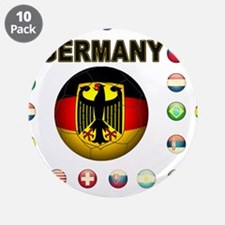 """Germany soccer 3.5"""" Button (10 pack)"""