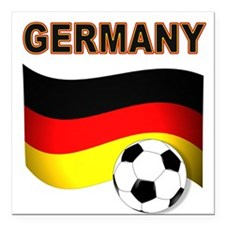 "Germany soccer Square Car Magnet 3"" x 3"""