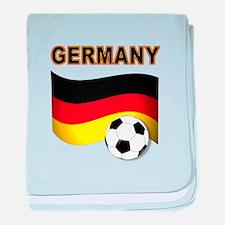 Germany soccer baby blanket