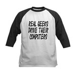 Real Geeks Drive Their Comput Kids Baseball Jersey