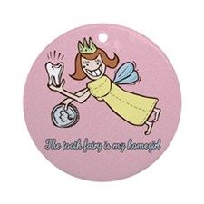 Cute Tooth Fairy Ornament (Round)