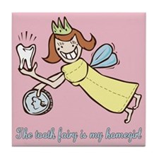 Cute Tooth Fairy Tile Coaster