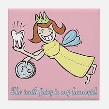 Cute Tooth Fairy Tile Coaster