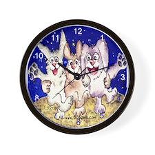 Cute Cartoon Rabbit Moon Wall Clock
