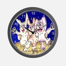 Cute Cartoon Rabbit Moon Wall Clock