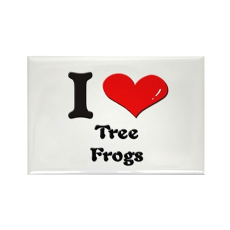 I love tree frogs Rectangle Magnet