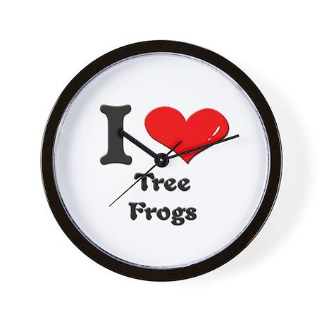 I love tree frogs Wall Clock