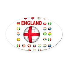 England Football Oval Car Magnet