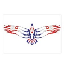 Cute Eagle tattoo Postcards (Package of 8)