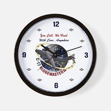 C-17 You Call, We Haul Wall Clock