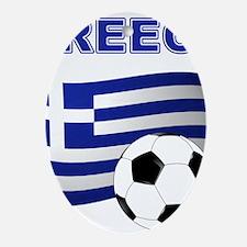 Greece soccer Ornament (Oval)