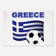 Greece soccer 5'x7'Area Rug