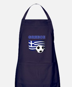 Greece soccer Apron (dark)