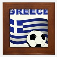 Greece soccer Framed Tile