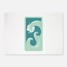 Water Element Zodiac Sign 5'x7'Area Rug