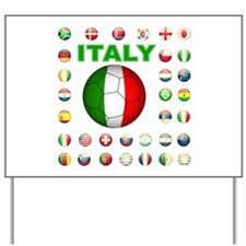 Italy soccer Yard Sign