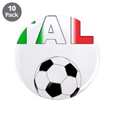 """Italy soccer 3.5"""" Button (10 pack)"""