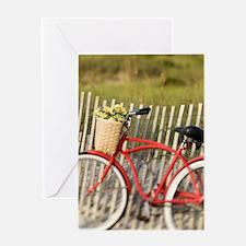 BIKE ON THE BEACH Greeting Card