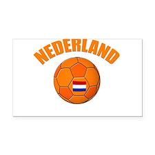 Nederland voetbal soccer Rectangle Car Magnet