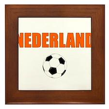Nederland voetbal soccer Framed Tile