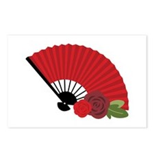Spanish Asian Flamenco Folding Fan Postcards (Pack