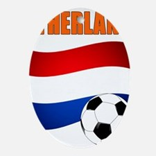 Netherlands soccer Ornament (Oval)