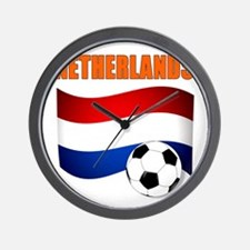 Netherlands soccer Wall Clock