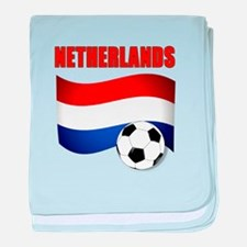 Netherlands soccer baby blanket