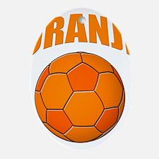 oranje voetbal soccer Ornament (Oval)