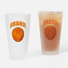 oranje voetbal soccer Drinking Glass