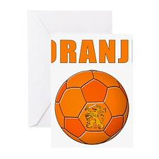 oranje voetbal soccer Greeting Cards