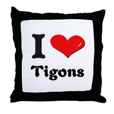 I love tigons Throw Pillow