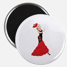 Spanish Flamenco Dancing Woman Magnets