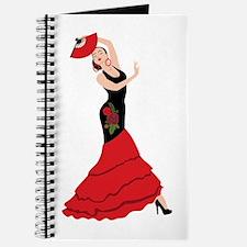 Spanish Flamenco Dancing Woman Journal