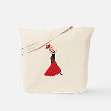 Spanish Flamenco Dancing Woman Tote Bag