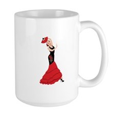Spanish Flamenco Dancing Woman Mugs