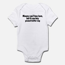 peanut butter cup (money) Infant Bodysuit