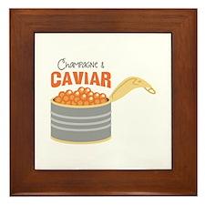 Champagne CAVIAR Framed Tile