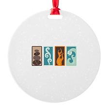 Four Elements Zodiac Earth Air Fire Water Ornament