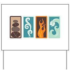 Four Elements Zodiac Earth Air Fire Water Yard Sig