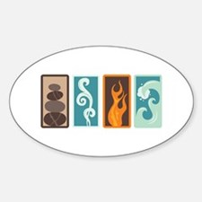 Four Elements Zodiac Earth Air Fire Water Decal