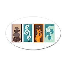 Four Elements Zodiac Earth Air Fire Water Wall Dec