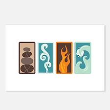 Four Elements Zodiac Earth Air Fire Water Postcard