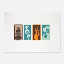 Four Elements Zodiac Earth Air Fire Water 5'x7'Are